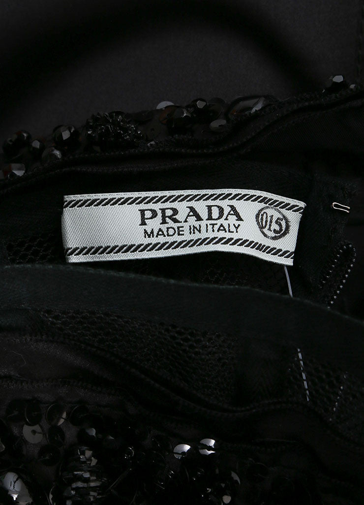 Prada Black Silk Strapless Dress Brand