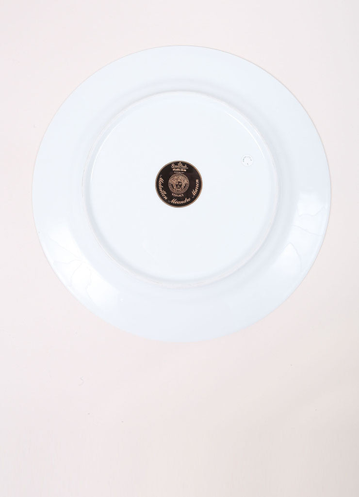 "Versace Rosenthal Brown ""Medaillon Meandre Marron"" 12 inch Service Plate Bottom View"