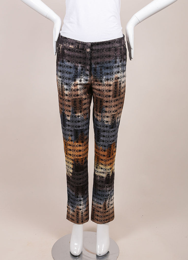 Wes Gordon New With Tags Multicolor Abstract Printed Trousers Frontview