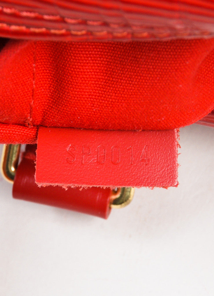"Louis Vuitton Red Epi Leather ""Speedy 25"" Handbag Date Code"