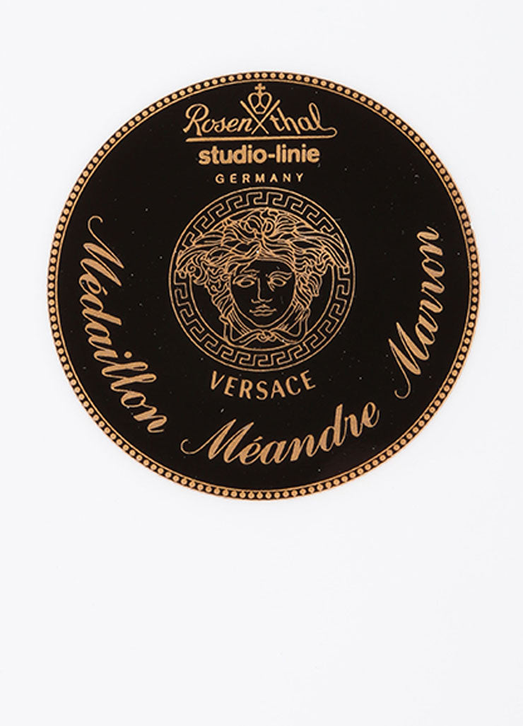 "Versace Rosenthal Brown ""Medaillon Meandre Marron"" 12 inch Service Plate Brand"