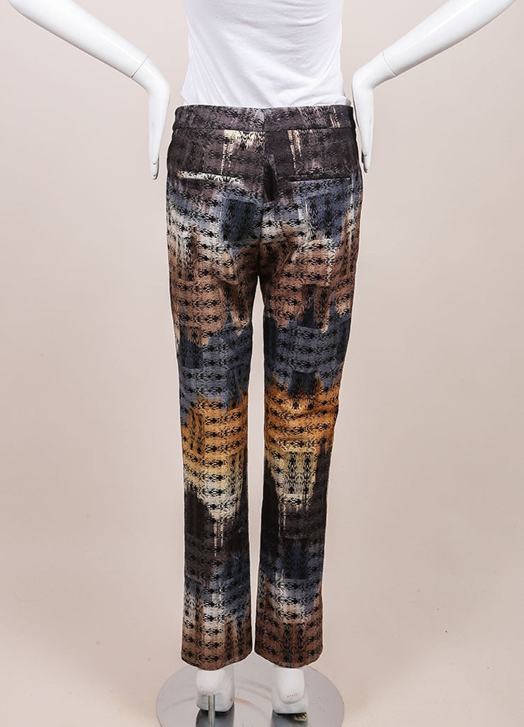 Wes Gordon New With Tags Multicolor Abstract Printed Trousers Backview