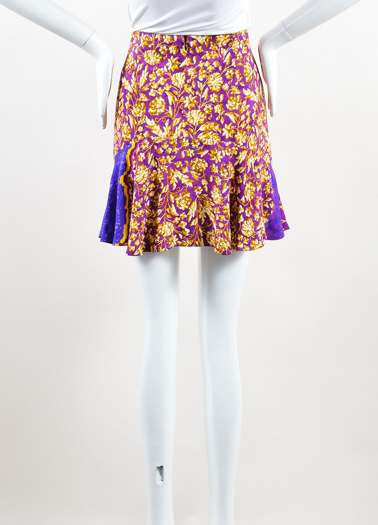 Peter Pilotto Multicolor Psychedelic Print Flare Mini Skirt Backview