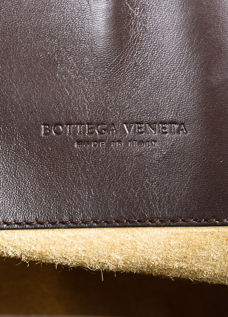 "Bottega Veneta Brown Intrecciato Leather ""Milano"" Tote Bag Brand"