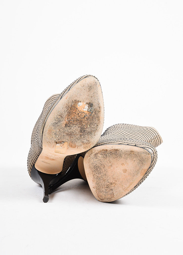 Giuseppe Zanotti Taupe Leather Concealed Platform Booties Outsoles