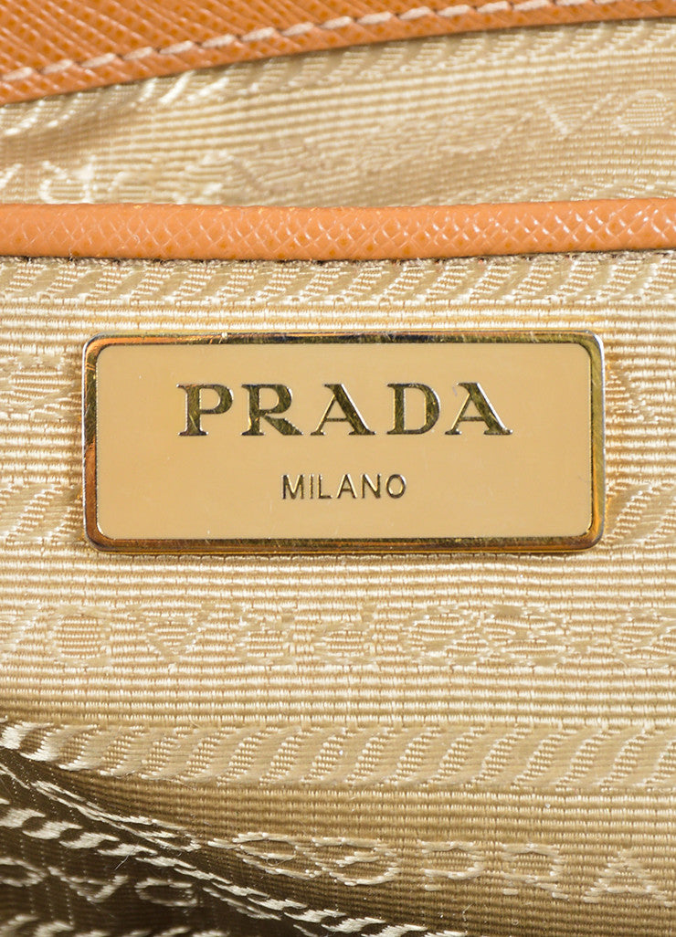"Tan Prada Saffiano Leather ""Gardener's"" Tote Bag Brand"