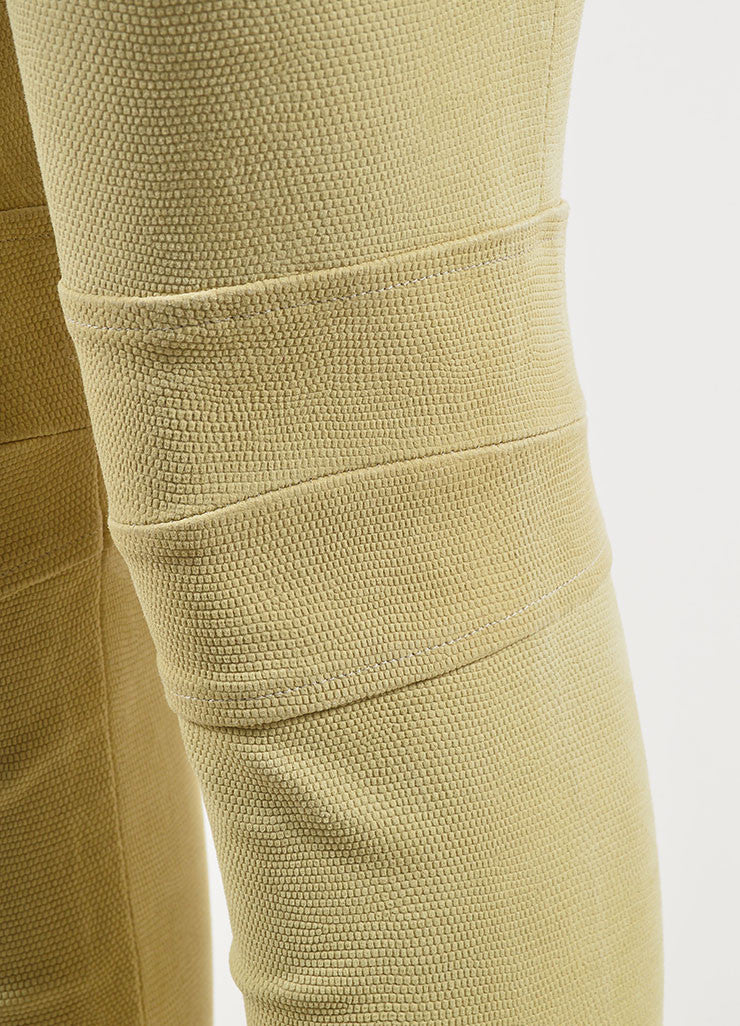 The Row Tan Lizard Embossed Suede Skinny Legging Pants Detail