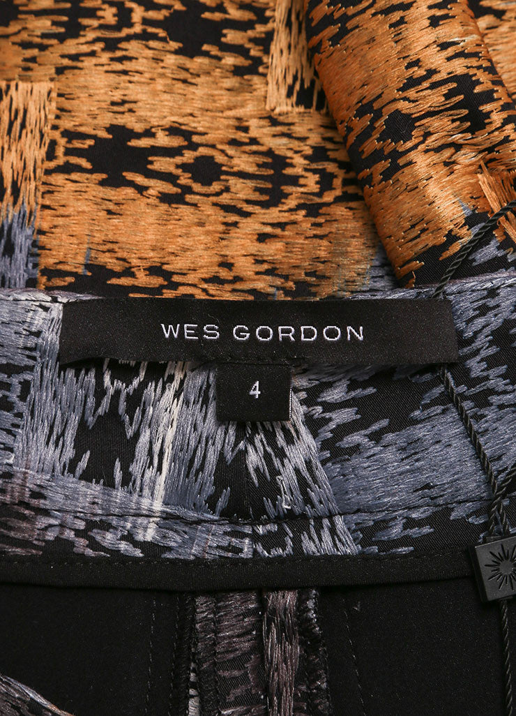 Wes Gordon New With Tags Multicolor Abstract Printed Trousers Brand