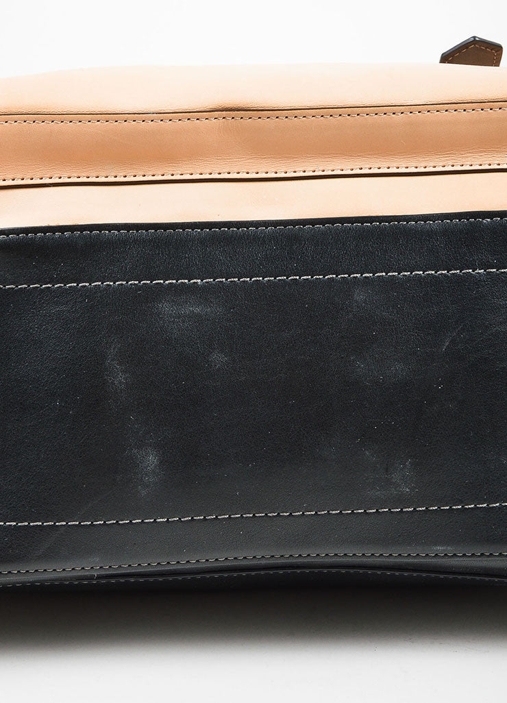 Black, Beige, and Tan Reed Krakoff Leather Boxer Bag Detail 2