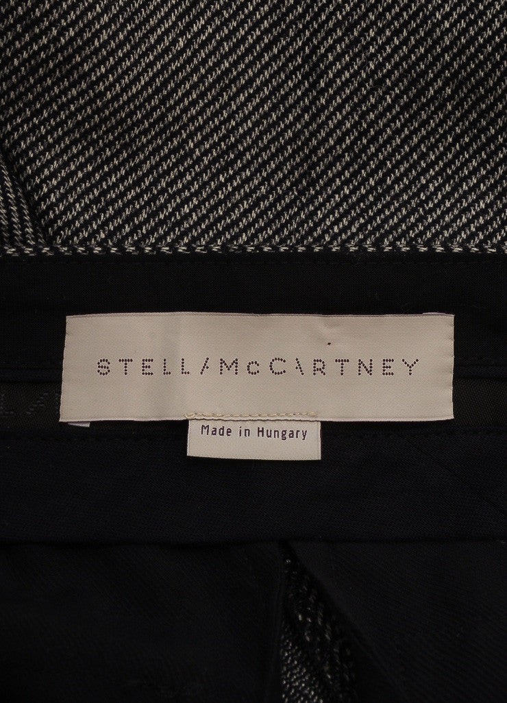 Stella McCartney New With Tags Black and White Wool Knit Zip Trousers Brand