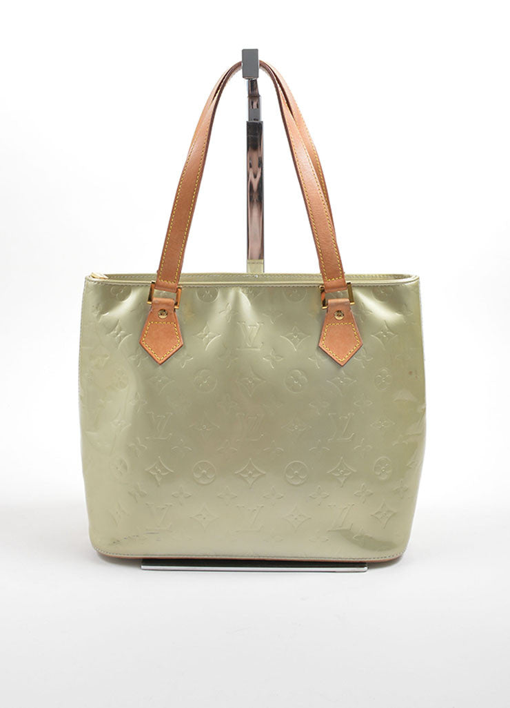 Louis Vuitton Pale Green Patent Leather Monogram Tote Front