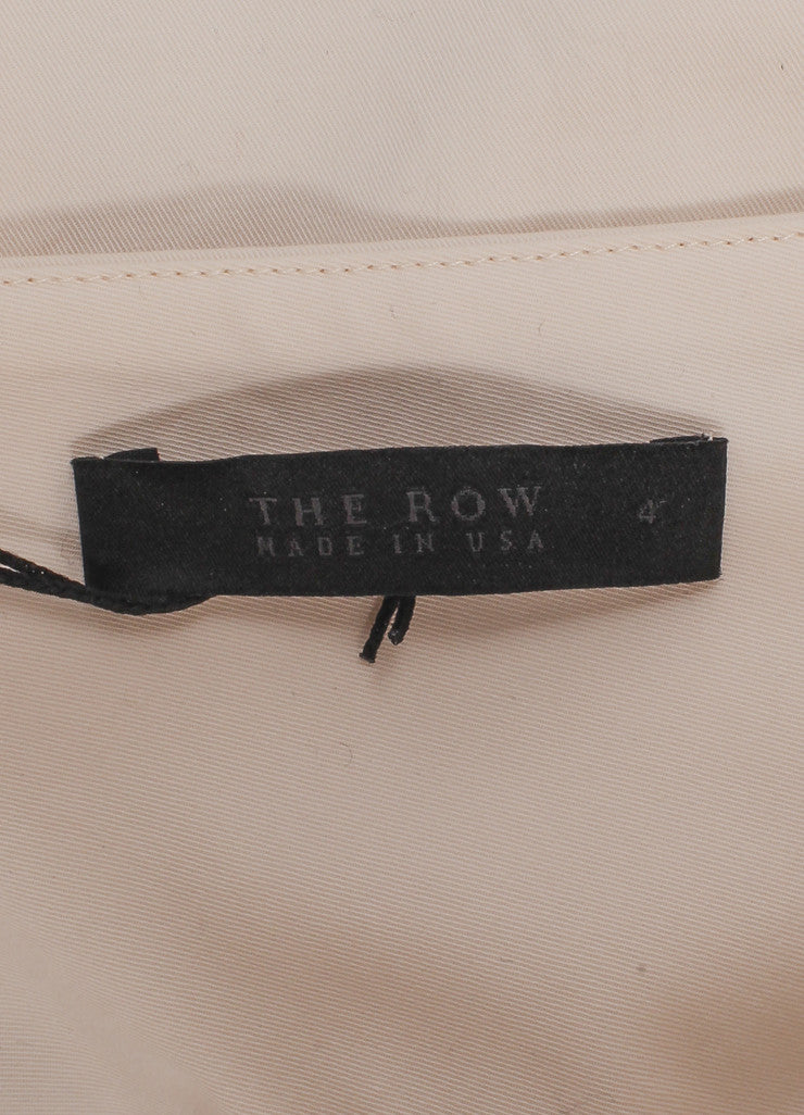 "The Row New With Tags Cream Stretch Cotton Twill Cropped Wide Leg ""Crosha"" Pants Brand"