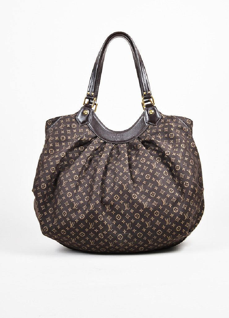 "Louis Vuitton Brown Twill Monogram Jacquard ""Idylle Fantaisie"" Hobo Bag Frontview"