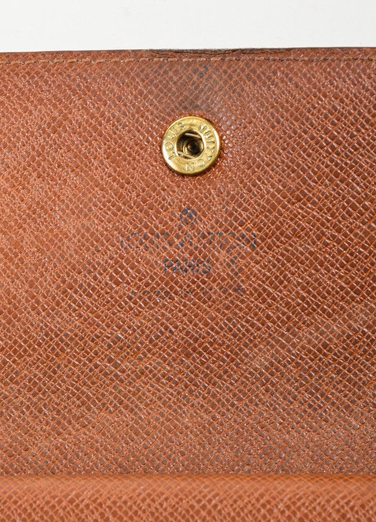 "Brown and Tan Louis Vuitton Monogram ""Porte-tresor International"" Long Wallet Brand"