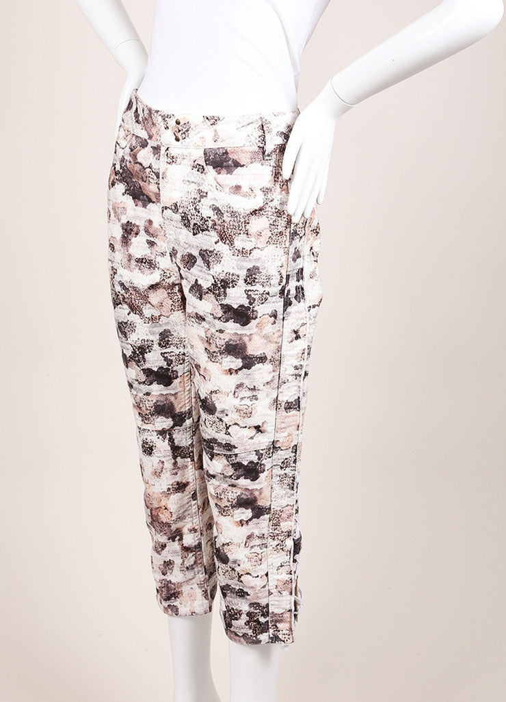 "Isabel Marant New With Tags Cream and Black Printed ""Dessie"" Pants Sideview"