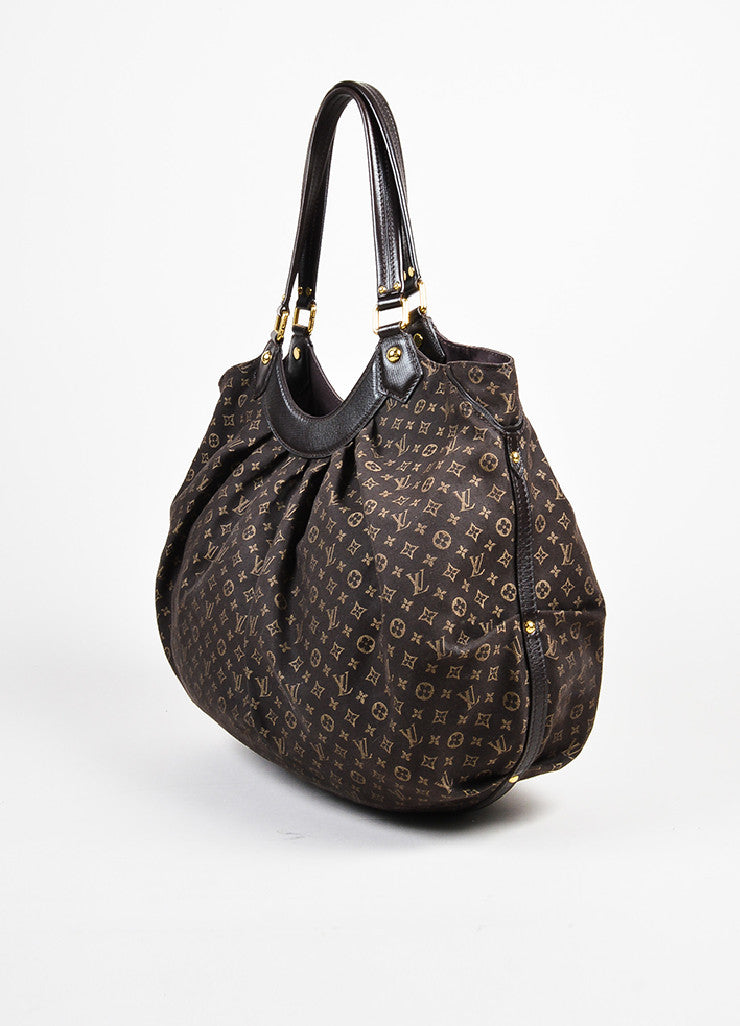"Louis Vuitton Brown Twill Monogram Jacquard ""Idylle Fantaisie"" Hobo Bag Sideview"