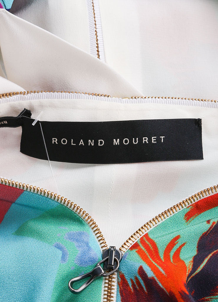 "Roland Mouret New With Tags Blue, Pink, and Multicolor Zip Up Silk ""Hadar"" Dress Brand"