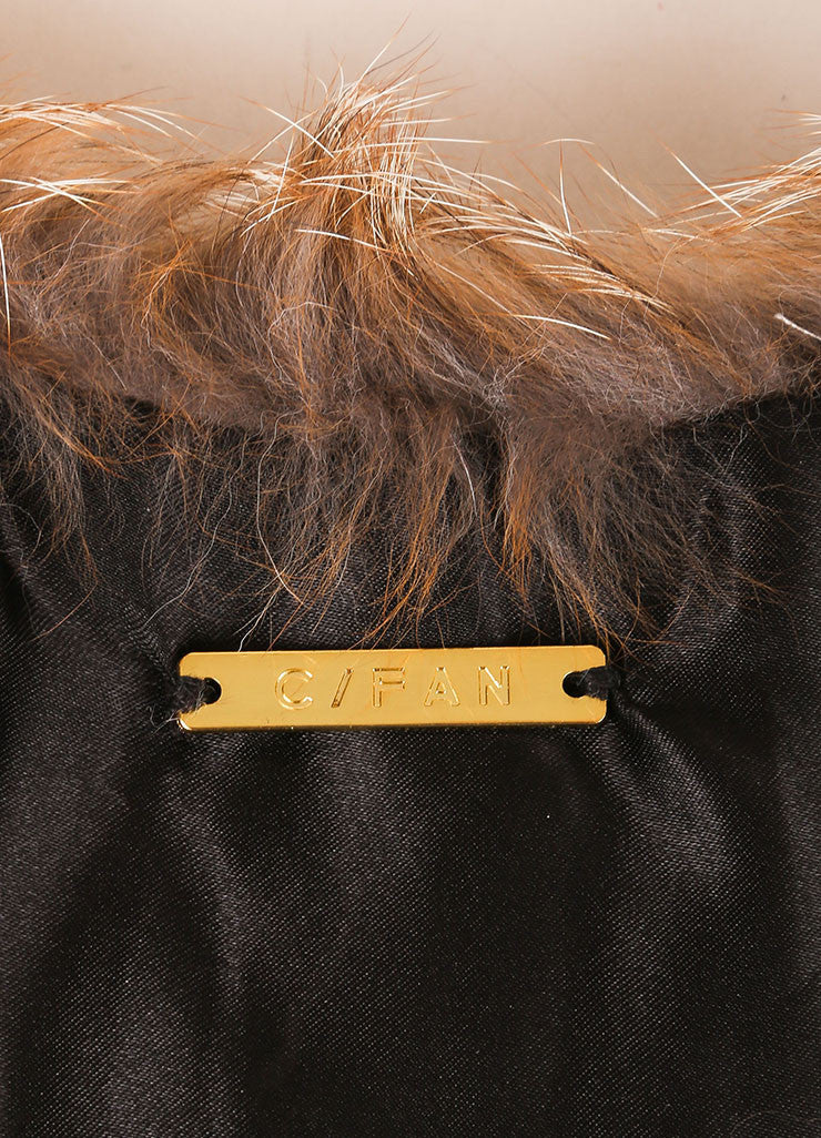"C/FAN New Tan and Cream Fur ""Brett"" Clip On Collar Brand"