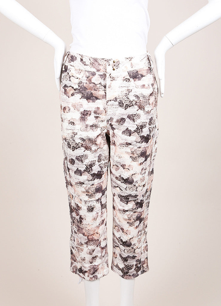 "Isabel Marant New With Tags Cream and Black Printed ""Dessie"" Pants Backview"