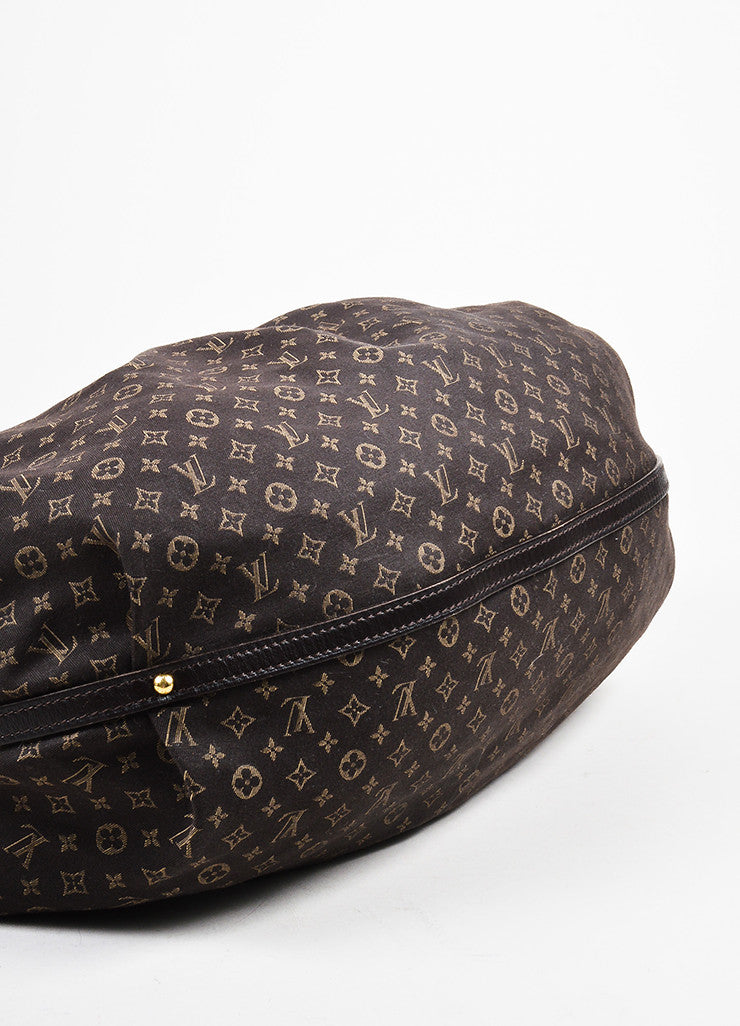 "Louis Vuitton Brown Twill Monogram Jacquard ""Idylle Fantaisie"" Hobo Bag Bottom View"