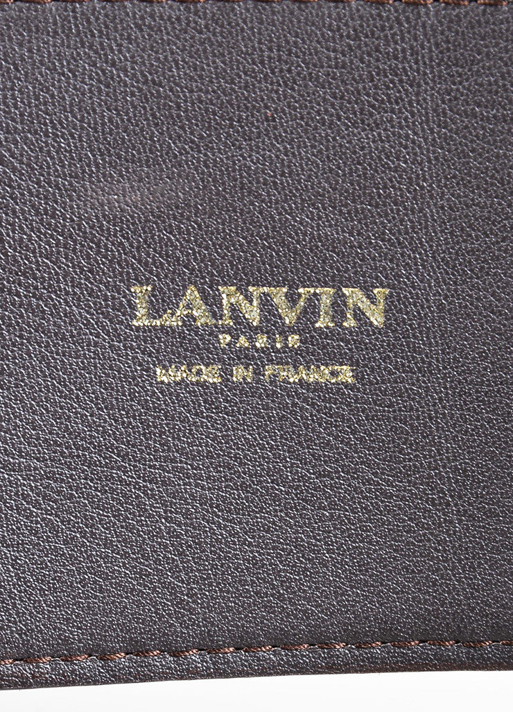Tan Brown Lanvin Leather Pony Hair Leopard Paneled Belt Brand