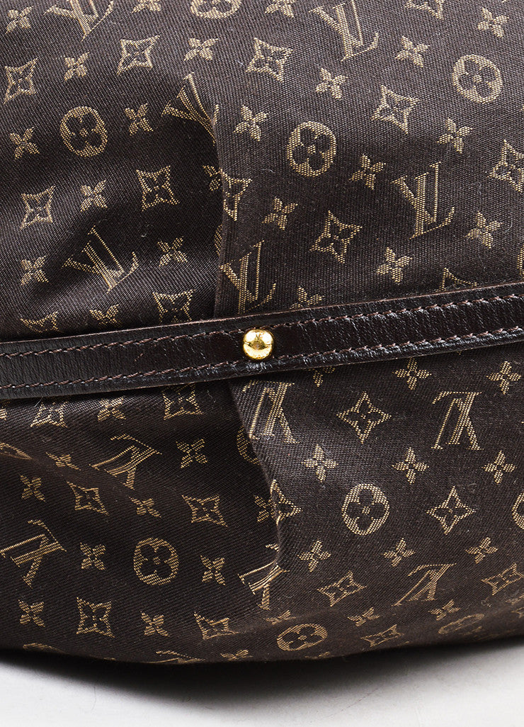 "Louis Vuitton Brown Twill Monogram Jacquard ""Idylle Fantaisie"" Hobo Bag Detail"