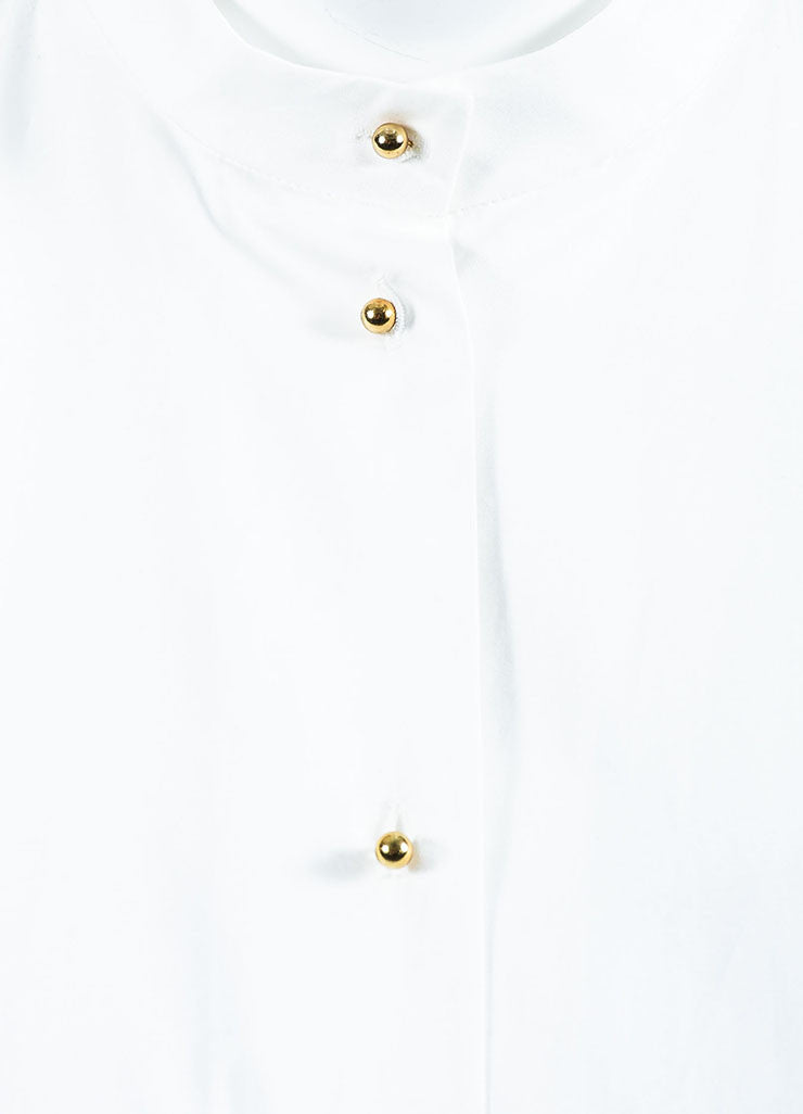 "White Blue & Black Roksanda Cotton Blend ""Avery"" Shirt Detail"