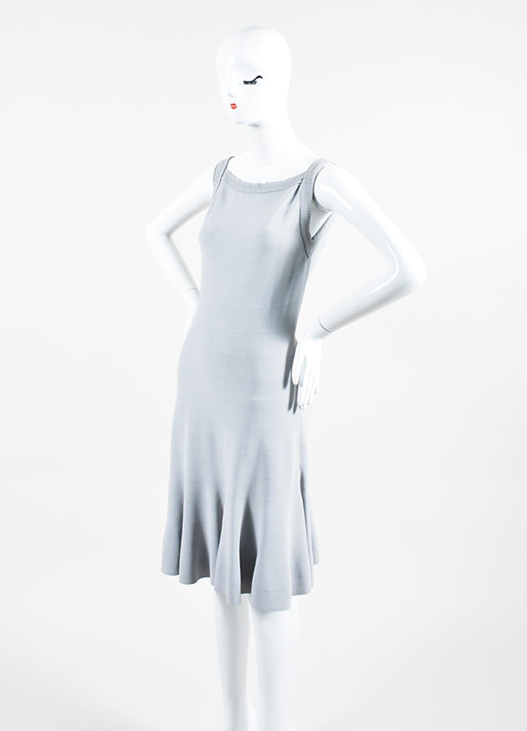 Grey Alaia Sleeveless Fit and Flare Dress Side