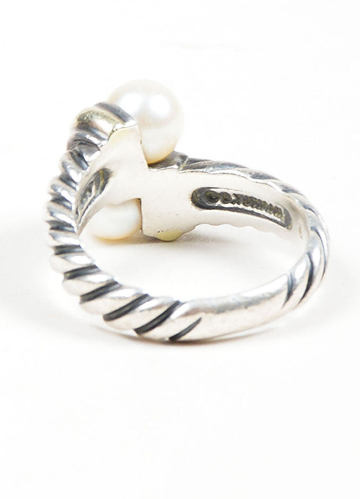 Sterling Silver & 14K Gold David Yurman Pearl Ring Back