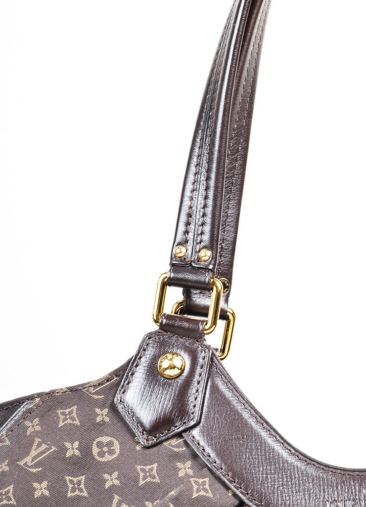 "Louis Vuitton Brown Twill Monogram Jacquard ""Idylle Fantaisie"" Hobo Bag Detail 2"