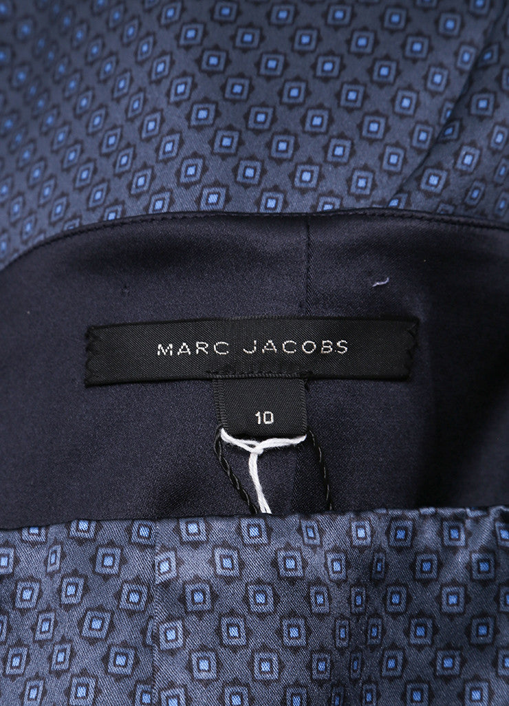 Marc Jacobs New With Tags Navy Blue Silk Printed Crop Gaucho Culotte Pants Brand