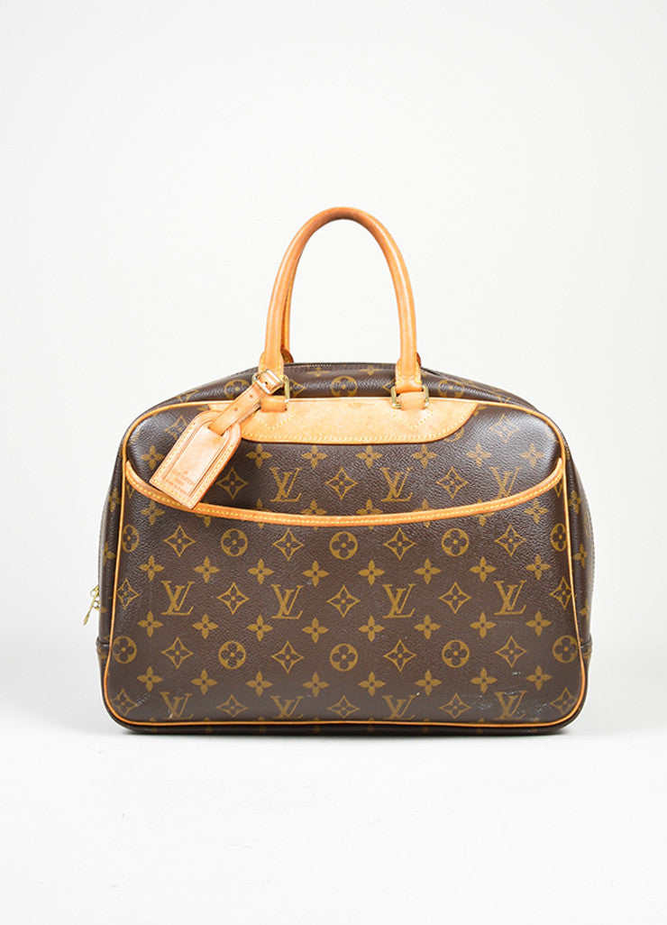 Brown Louis Vuitton Monogram Canvas Top Handle Satchel Front