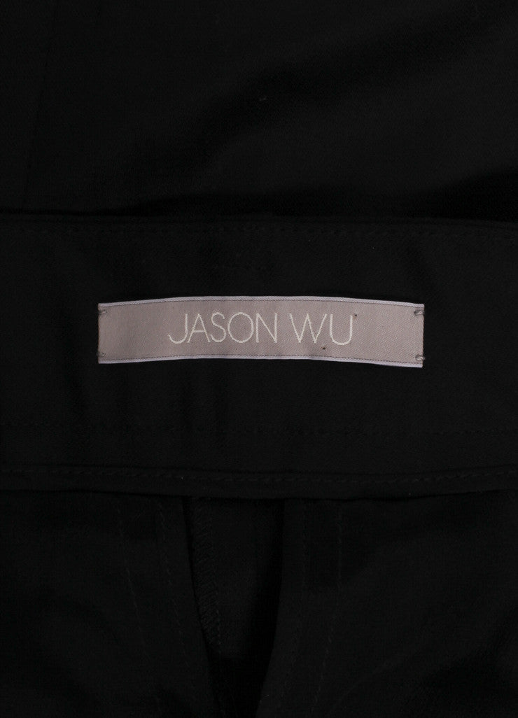 Jason wu New With Tags Black High Waisted Wool and Satin Tuxedo Trousers Brand