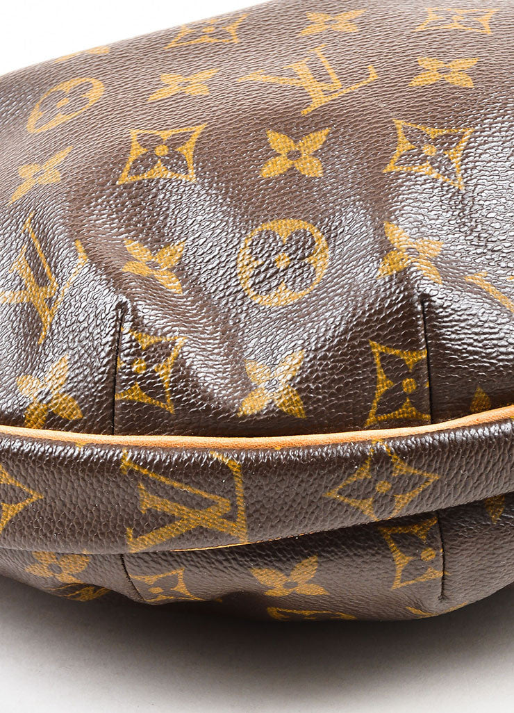 "Louis Vuitton Brown and Tan Coated Canvas Monogram ""Croissant MM"" Shoulder Bag Detail"