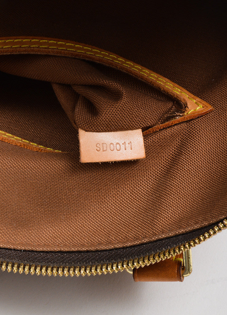 "Brown Louis Vuitton Monogram ""Alma PM"" Zip Satchel Bag Serial"