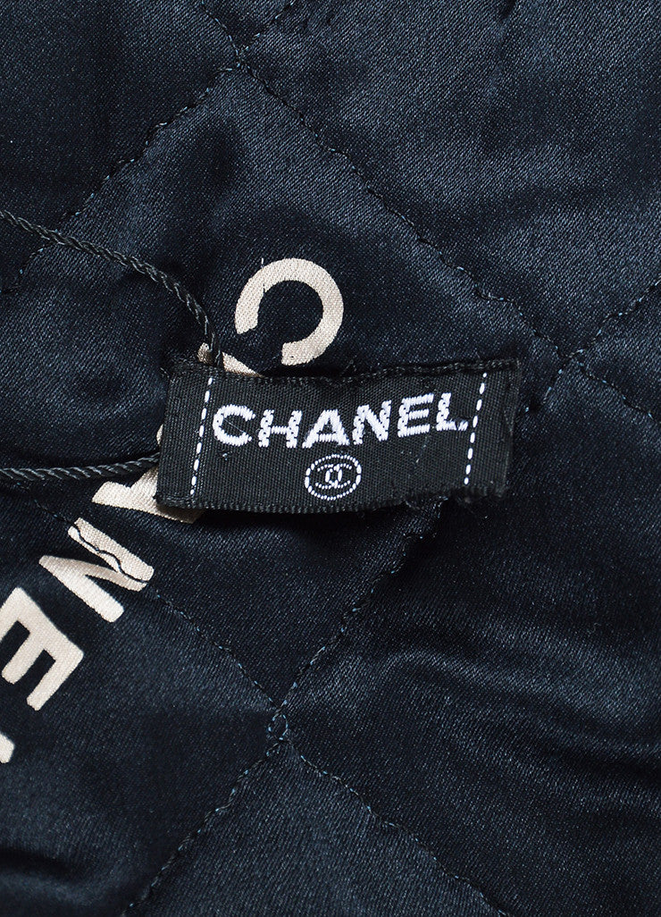 Men's Black Chanel Nylon Quilted Cropped Bomber Jacket Brand