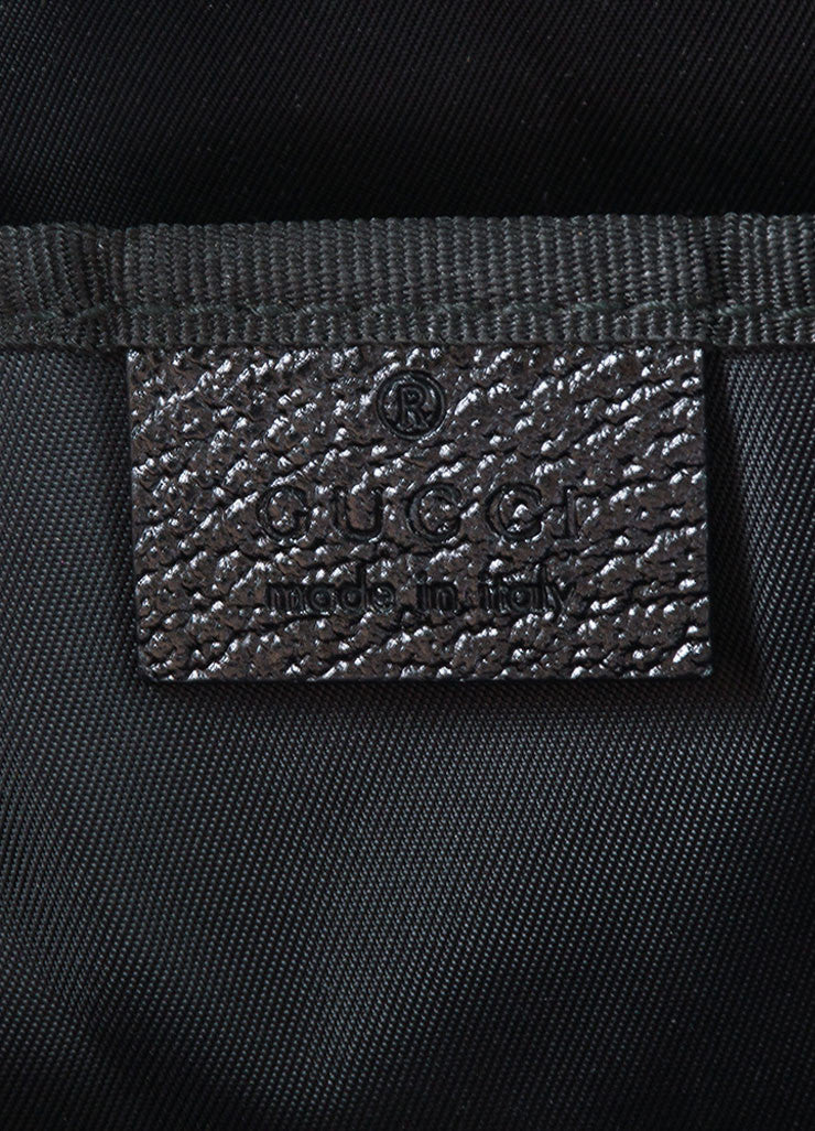 Gucci Black Canvas and Leather Monogram 'GG' Logo Diaper Shoulder Bag Brand
