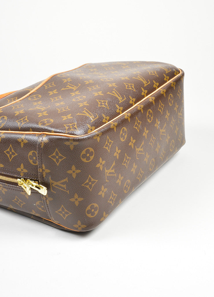 Brown Louis Vuitton Monogram Canvas Top Handle Satchel Top