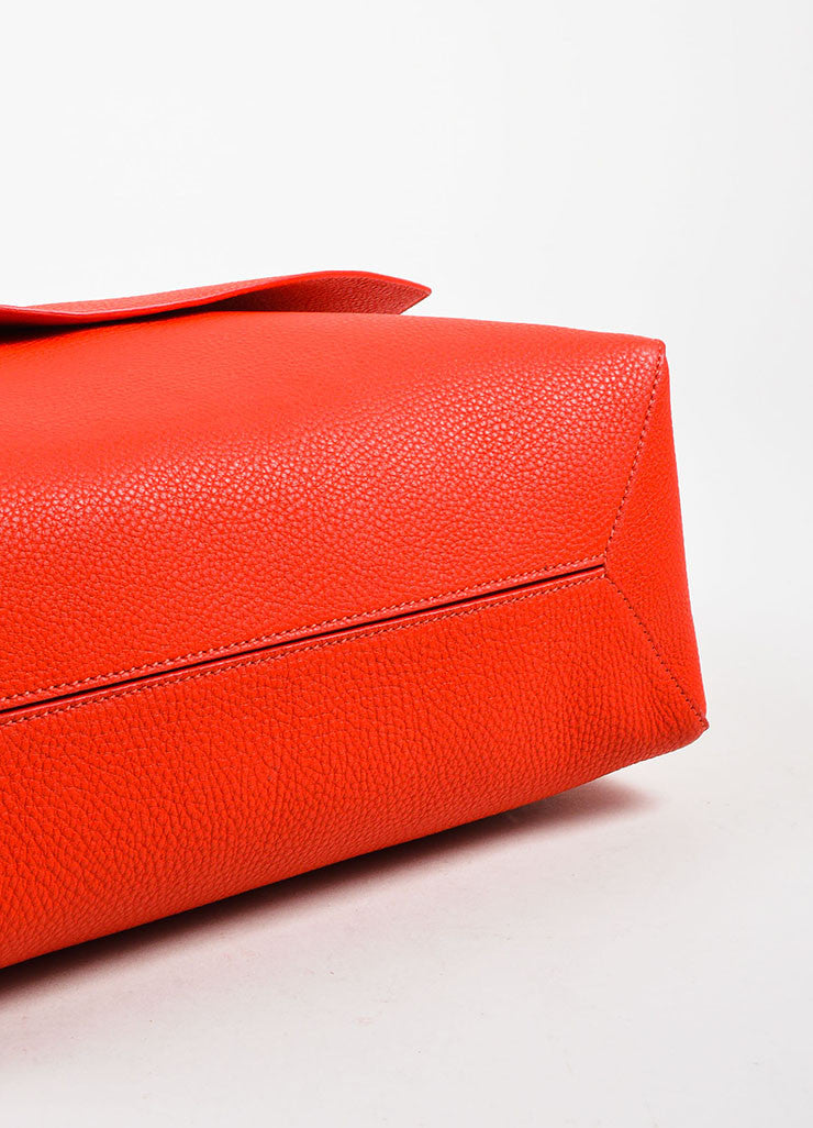 Crimson Red Victoria Beckham Calf & Lambskin Soft Shoulder Bag Detail