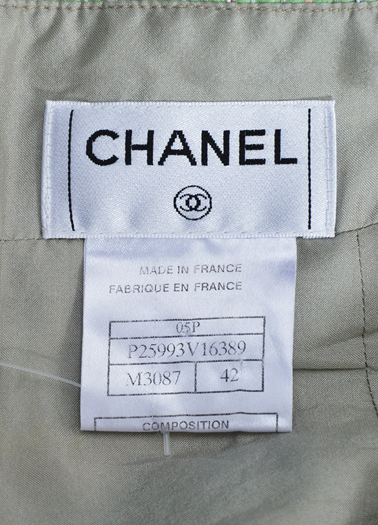 Multicolor Pastel Chanel Silk Blend Ribbon Skirt Brand