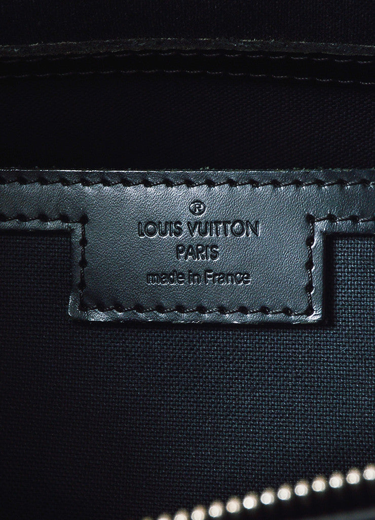 "Grey Louis Vuitton ""Graphite Damier"" Coated Canvas ""Tadao"" Bag Brand"