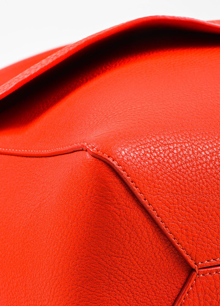 Crimson Red Victoria Beckham Calf & Lambskin Soft Shoulder Bag Detail 2