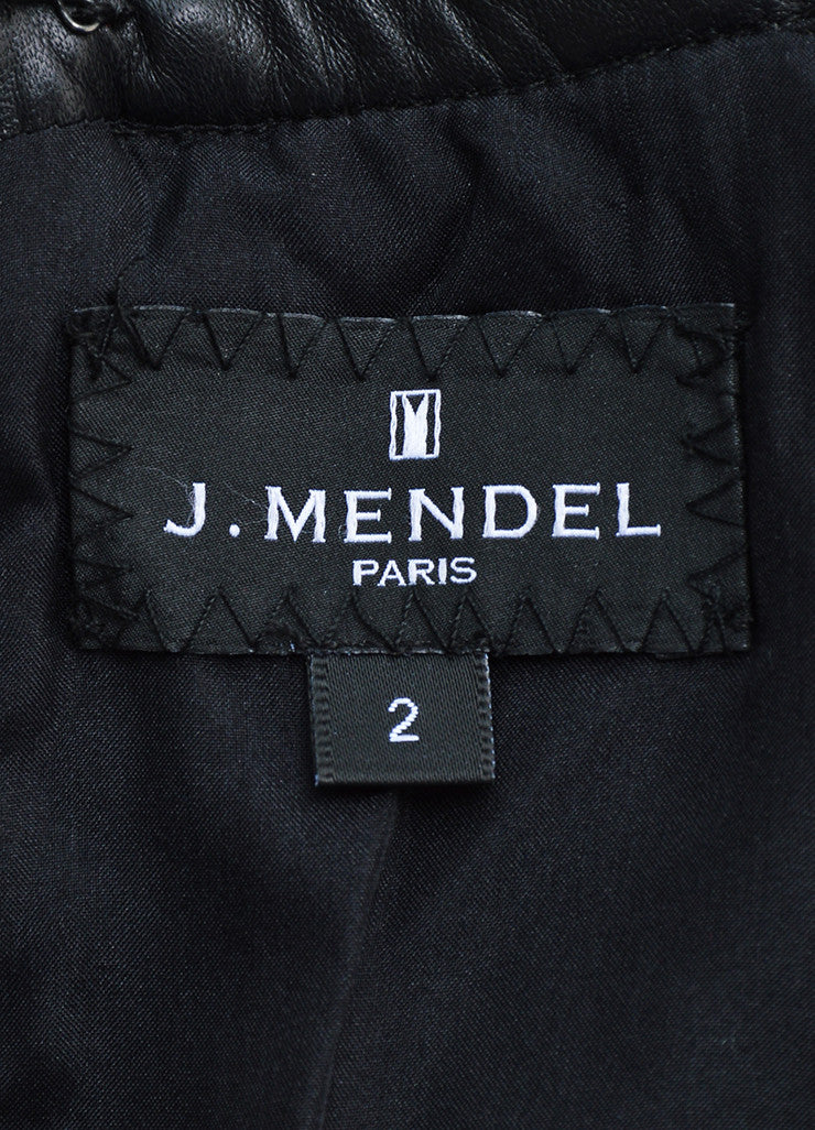 J. Mendel Black Leather Coated Textured Sleeveless Top Brand