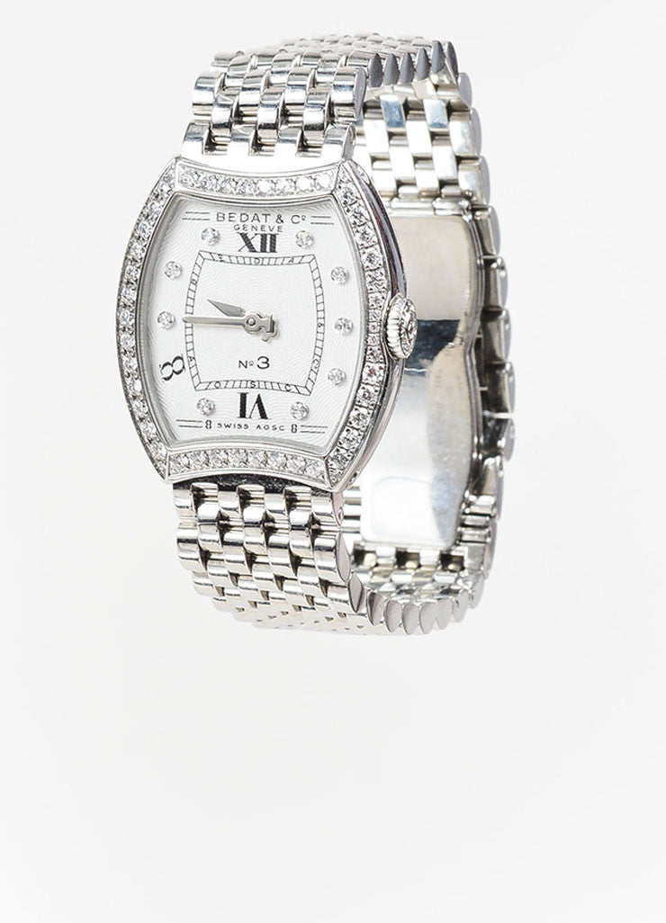 "Bedat & Co Stainless Steel and Diamond ""No. 3"" Bracelet Watch Sideview"
