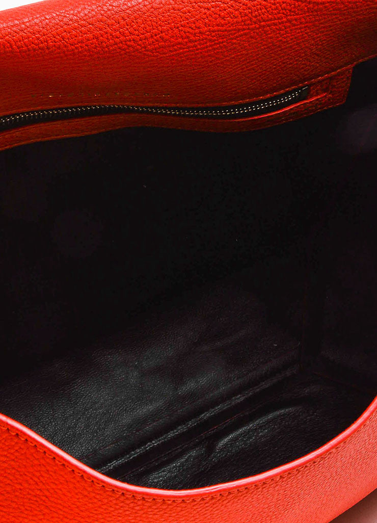 Crimson Red Victoria Beckham Calf & Lambskin Soft Shoulder Bag Detail 4