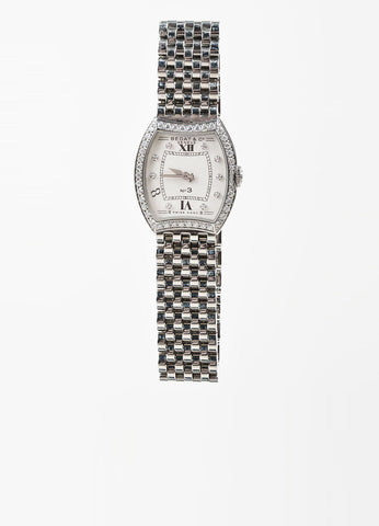 "Bedat & Co Stainless Steel and Diamond ""No. 3"" Bracelet Watch Frontview"