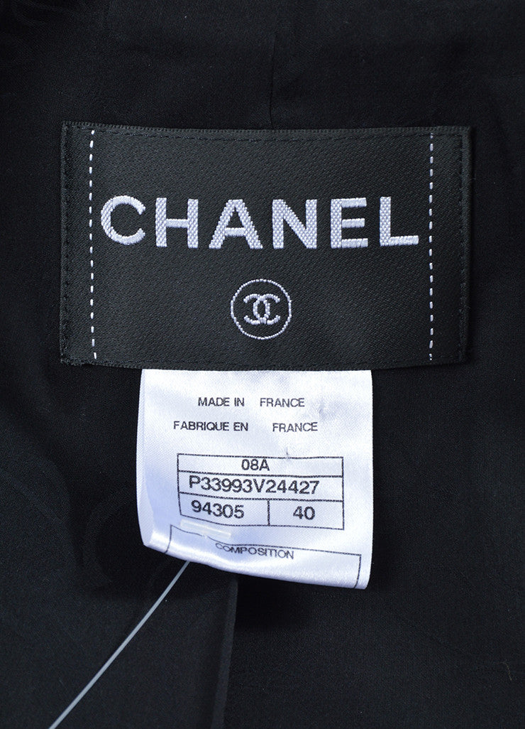 Black Wool Chanel 'CC' Button Single Breasted Tailored Blazer Brand