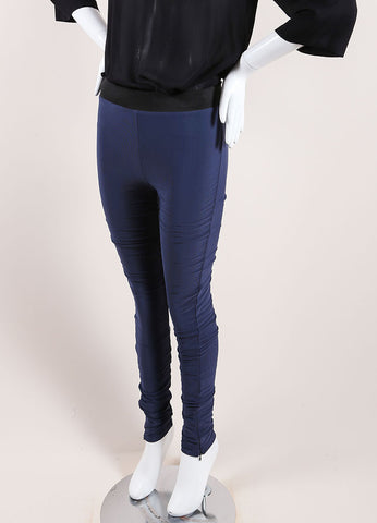 Karolina Zmarlak Navy Blue Leggings Side