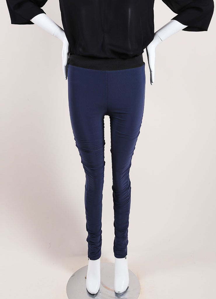 Karolina Zmarlak Navy Blue Leggings Front