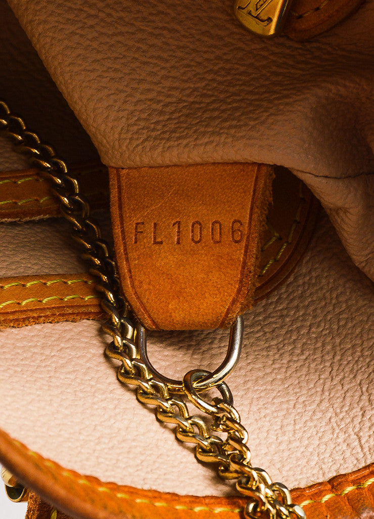 "Brown Louis Vuitton Coated Monogram Canvas Leather ""Petit Bucket"" Bag Brand 2"